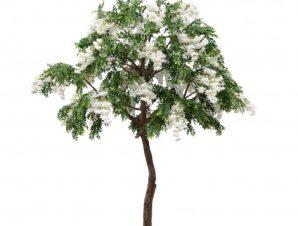 SpaceGreen Τεχνητό Πράσινο Δέντρο με Λευκά Άνθη 300 εκ.